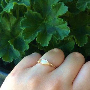 Jewelry - Handmade gold wire wrapped moonstone ring!